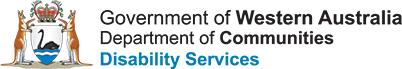 Image description: Government of Western Australia Department of Communities Disability Services logo