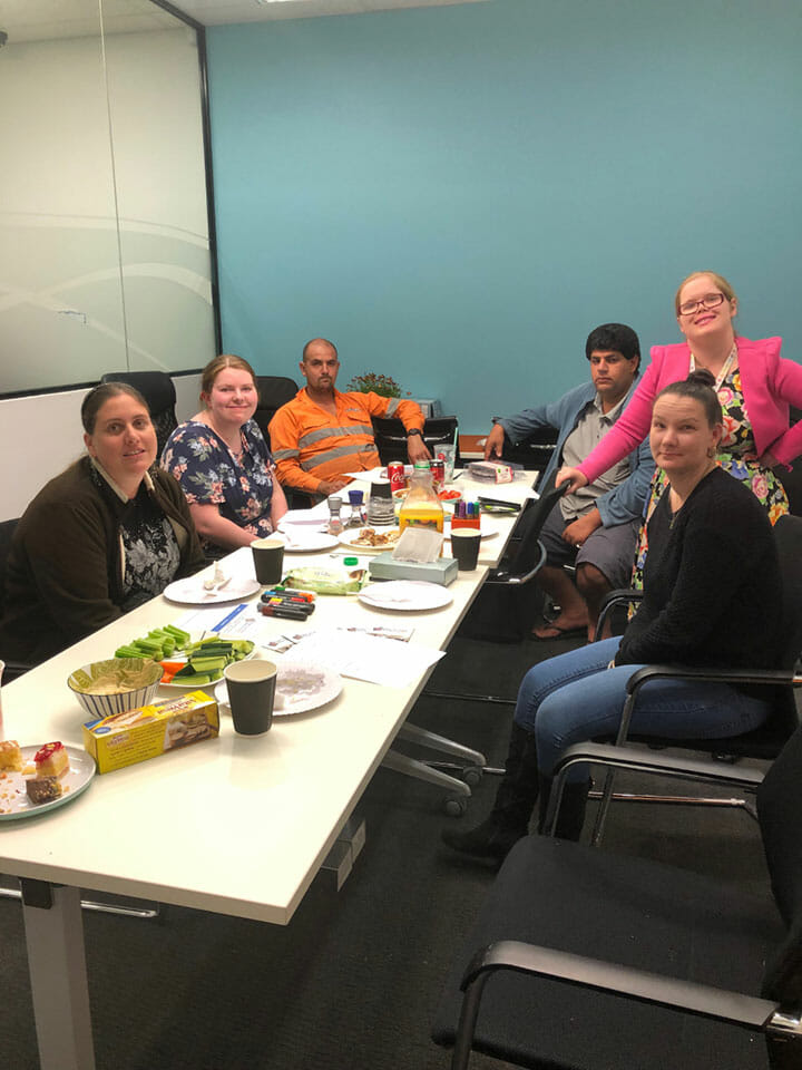 Image description: Engaged group of people at the Perth Hills Peer-to-Peer Network Meeting