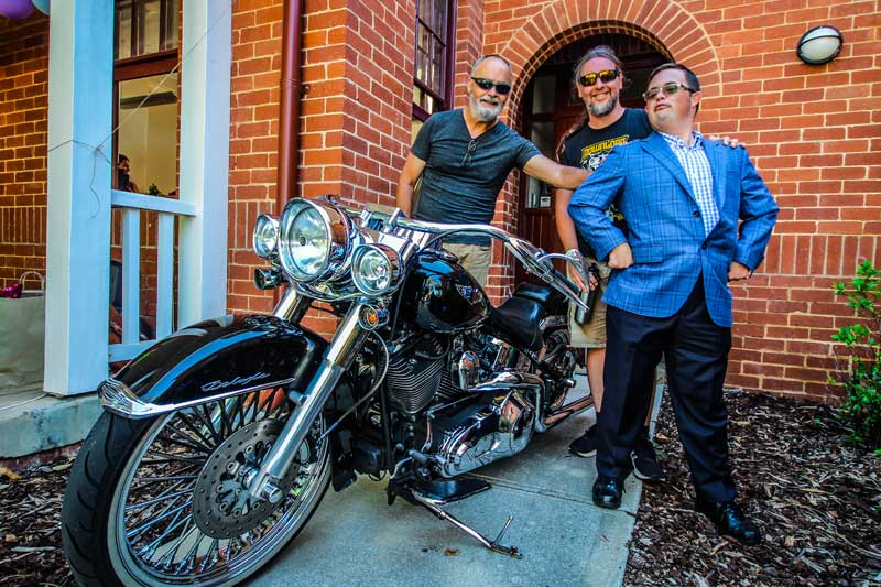 Image description: Peers with fancy motorbike