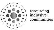 Image description: Resourcing Inclusive Communities logo